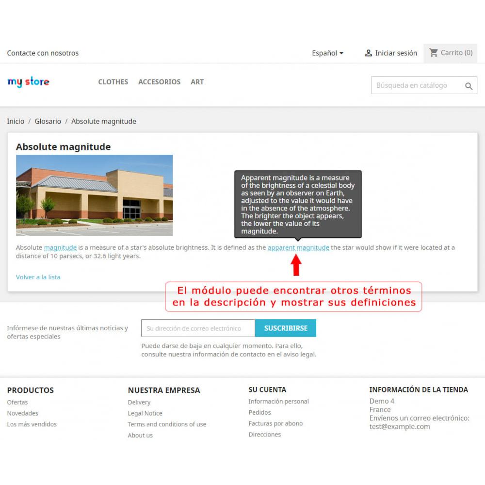 module - Personalización de la página - Súper Glosario - 5