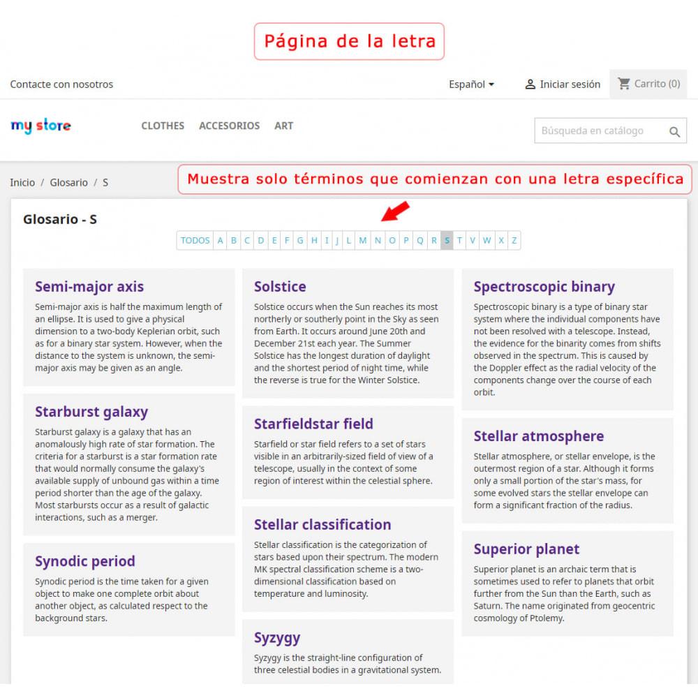 module - Personalización de la página - Súper Glosario - 7