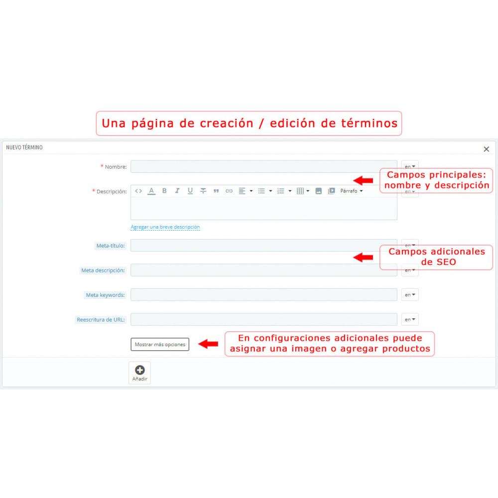 module - Personalización de la página - Súper Glosario - 10