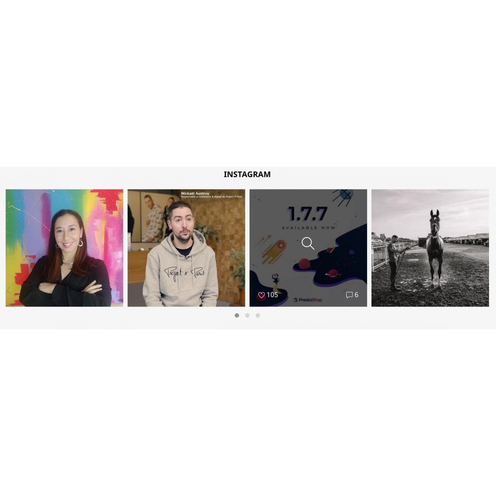 module - Produkty w serwisach społecznościowych - Insta Feed - zdjęcia z instagrama w Twoim sklepie - 6