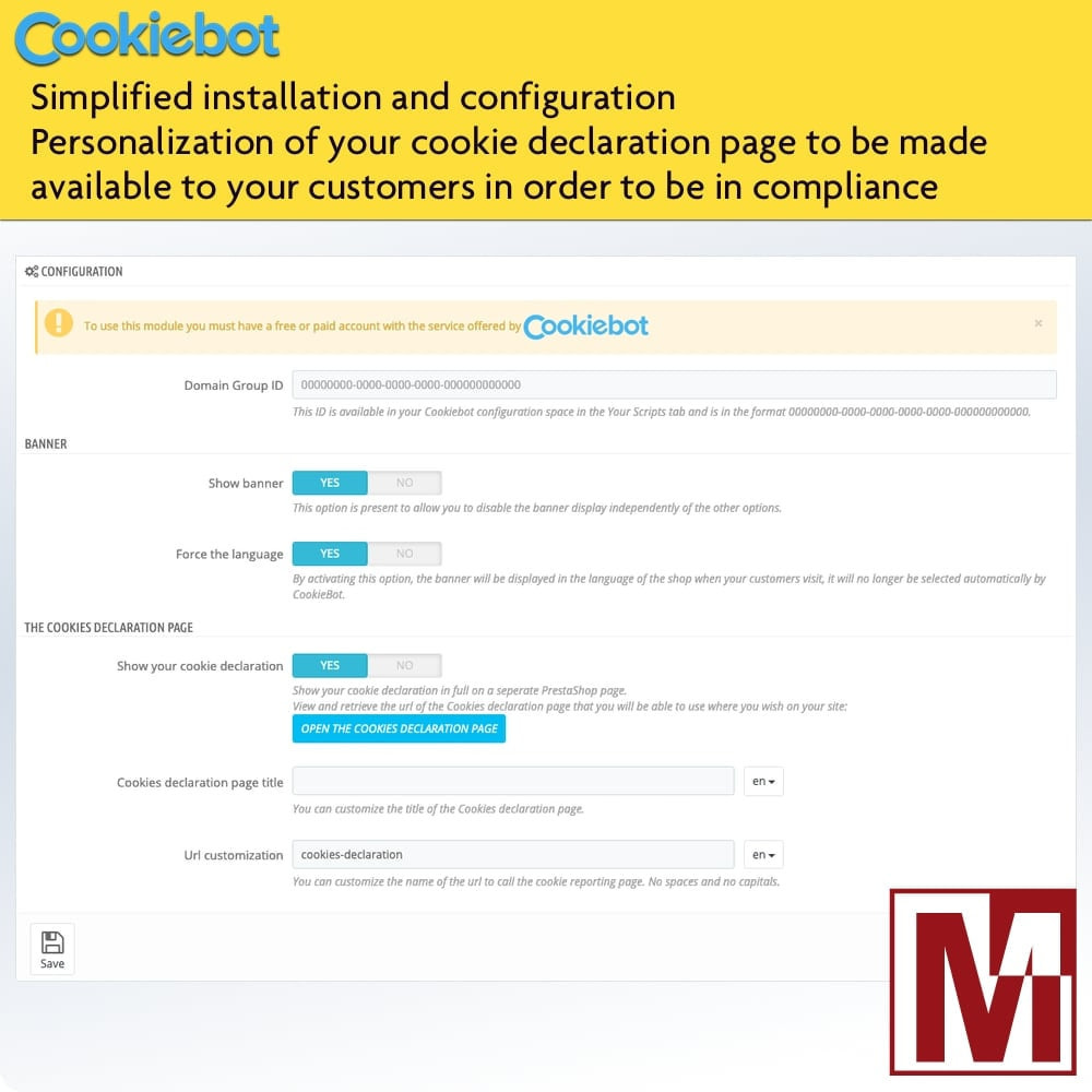 module - Marco Legal (Ley Europea) - Cookiebot - Monitoring and control of cookies - 2