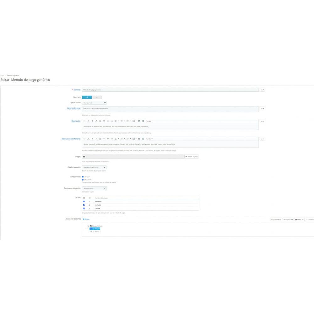 module - Otros métodos de pago - Método de pago genérico - 2