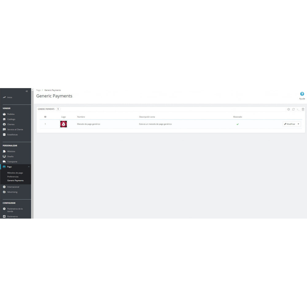 module - Otros métodos de pago - Método de pago genérico - 3