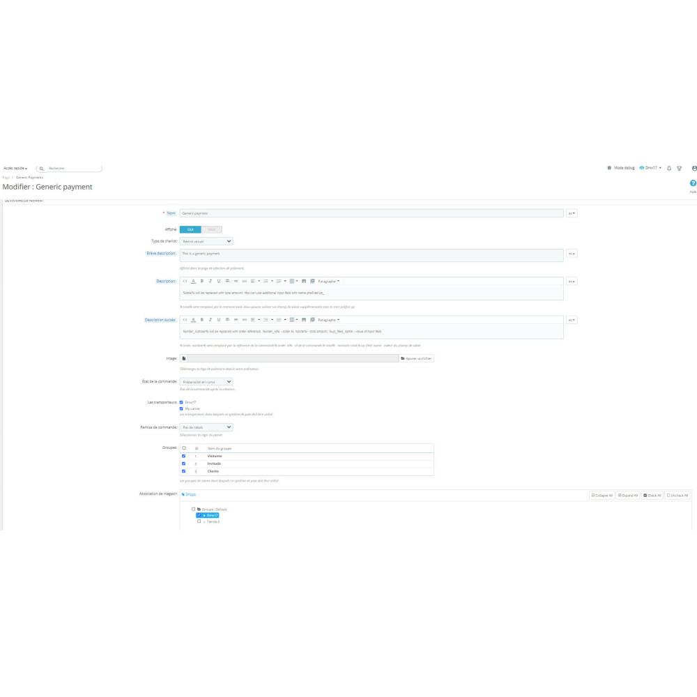 module - Autres moyens de paiement - Mode de paiement générique - 2