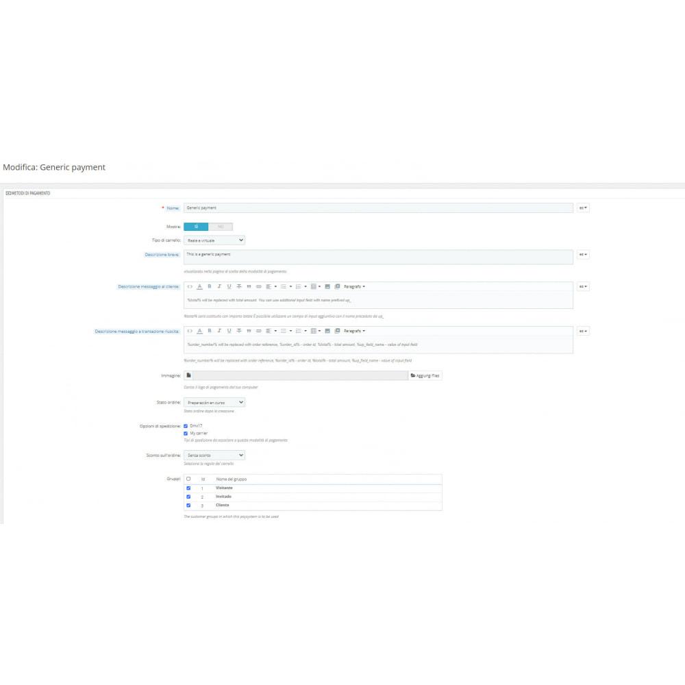 module - Altri Metodi di Pagamento - Metodo di pagamento generico - 2
