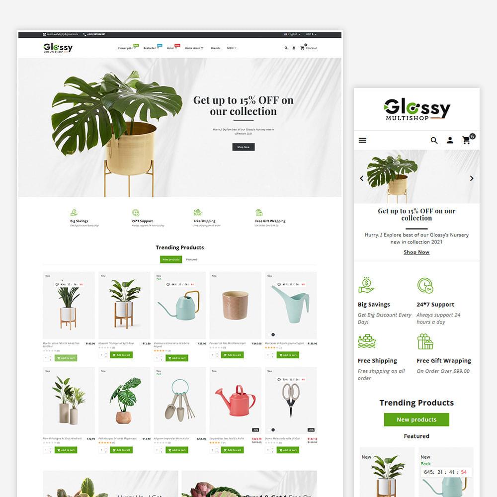 theme - Dom & Ogród - Glossy Nursery Plant & Tools - 2