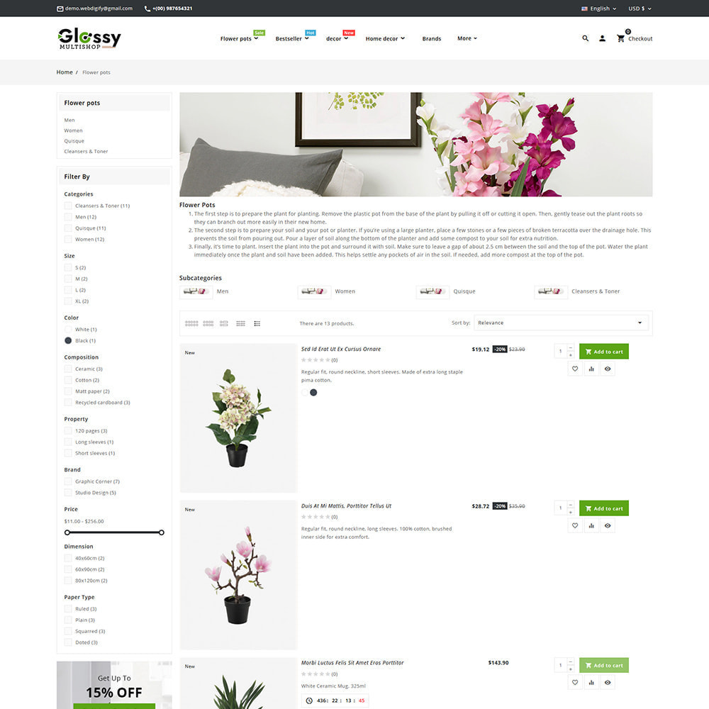 theme - Dom & Ogród - Glossy Nursery Plant & Tools - 10