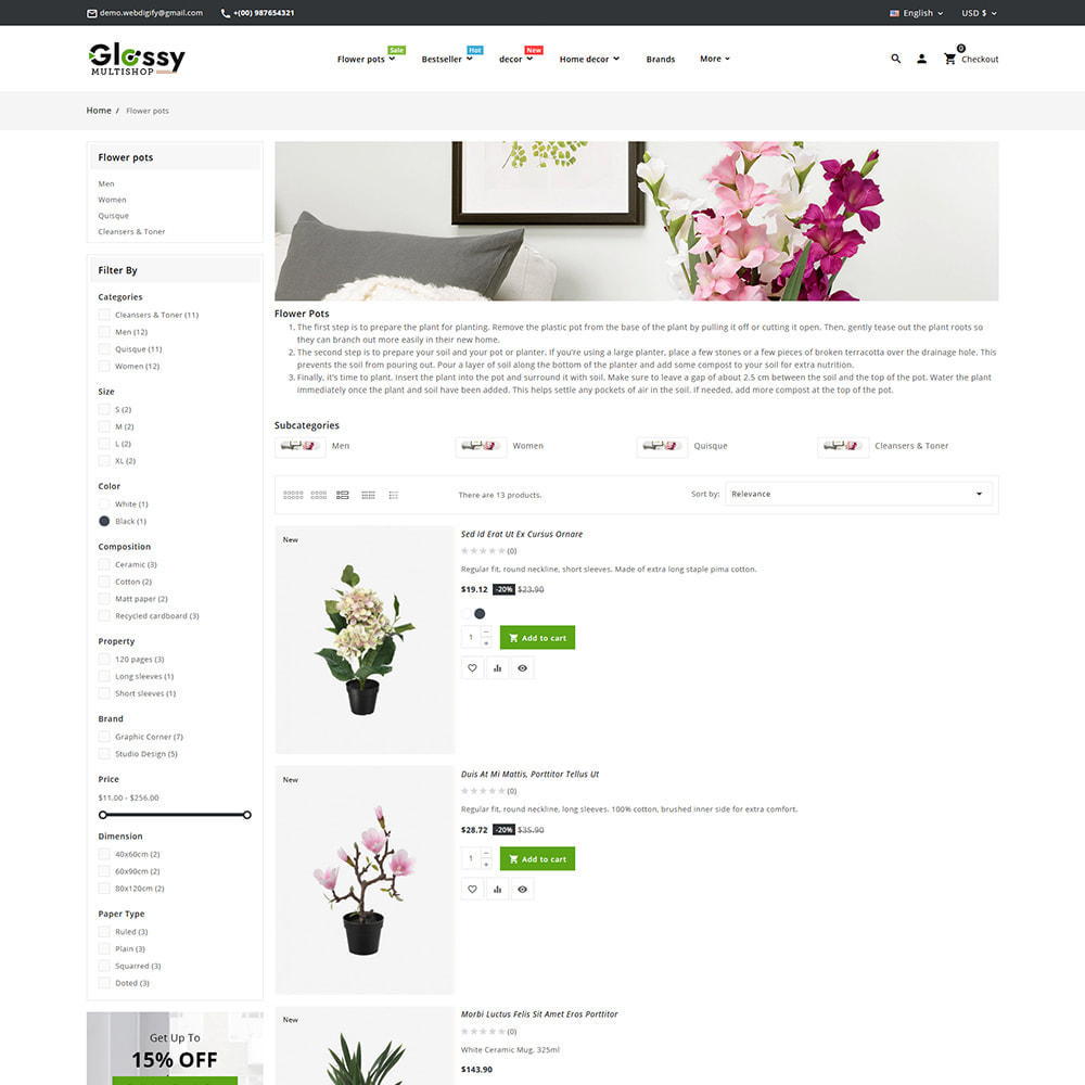 theme - Dom & Ogród - Glossy Nursery Plant & Tools - 16