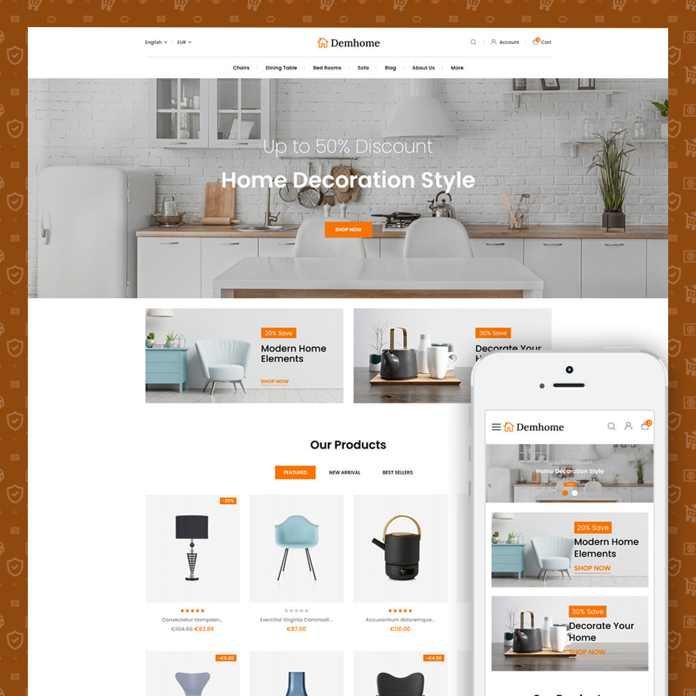 theme - Home & Garden - Demhome - Home Decoration Store - 1