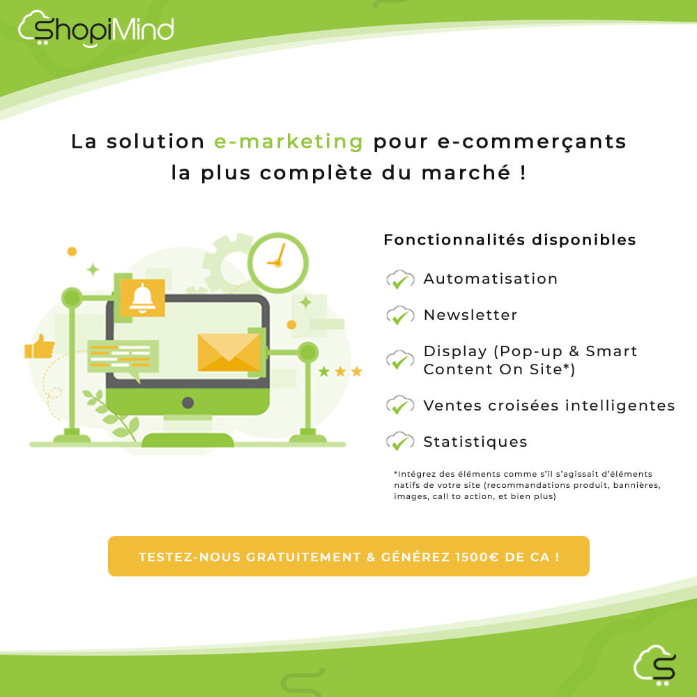 module - Remarketing & Paniers Abandonnés - ShopiMind - Marketing multicanal intelligent - 1