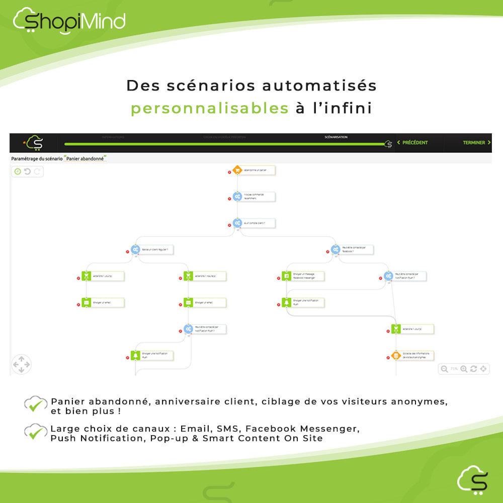 module - Remarketing & Paniers Abandonnés - ShopiMind - Marketing multicanal intelligent - 6