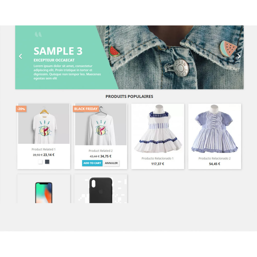 module - Ventes Flash & Ventes Privées - Show tag/label for special products by Categories - 2