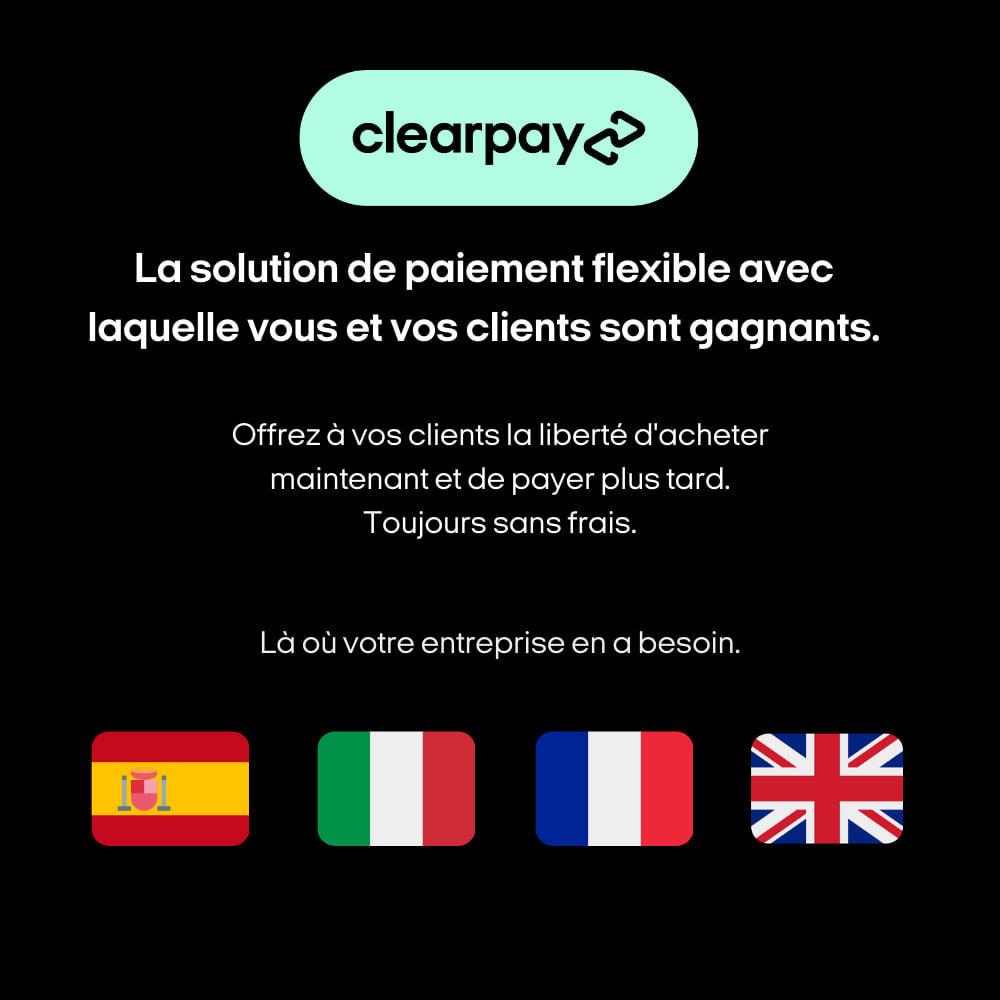 module - Paiement - Clearpay - Achetez maintenant, Payez plus tard, Sans frais - 3