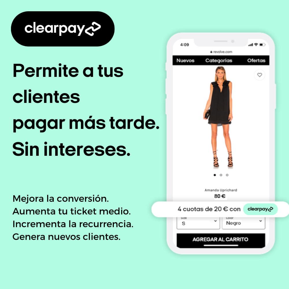 module - Pagos - Clearpay - Compra ahora, Paga más tarde, Sin intereses - 1