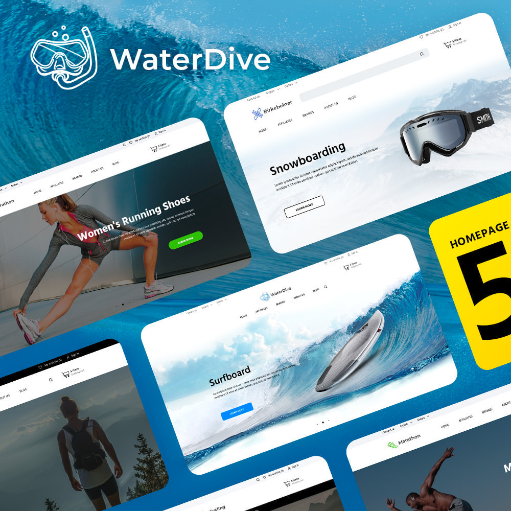 theme - Desporto, Actividades & Viagens - WaterDive - 1
