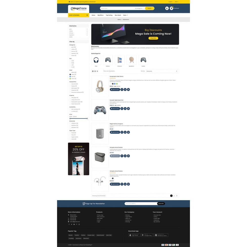 theme - Elektronika & High Tech - Mega Trone - Multi Purpose Shop - 14