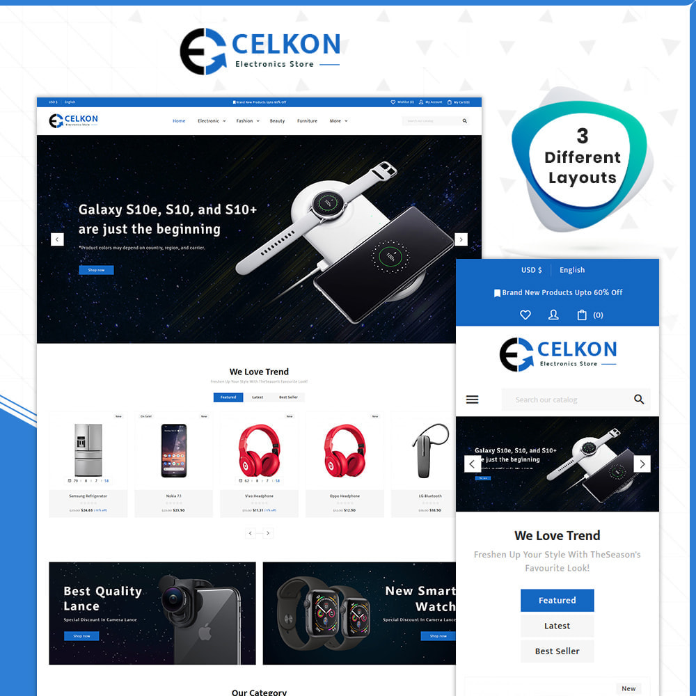 theme - Elektronika & High Tech - Electrónica–Celkon Electronic Store - 1