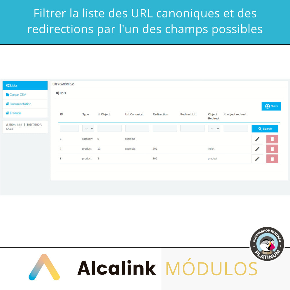 module - URL & Redirections - 2x1: SEO canonique + redirections SEO - 3