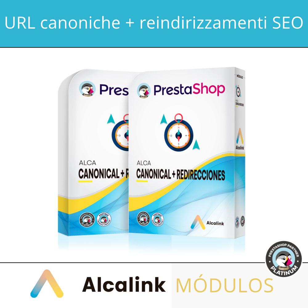 module - URL & Redirect - 2x1: URL canoniche SEO + reindirizzamenti SEO - 1