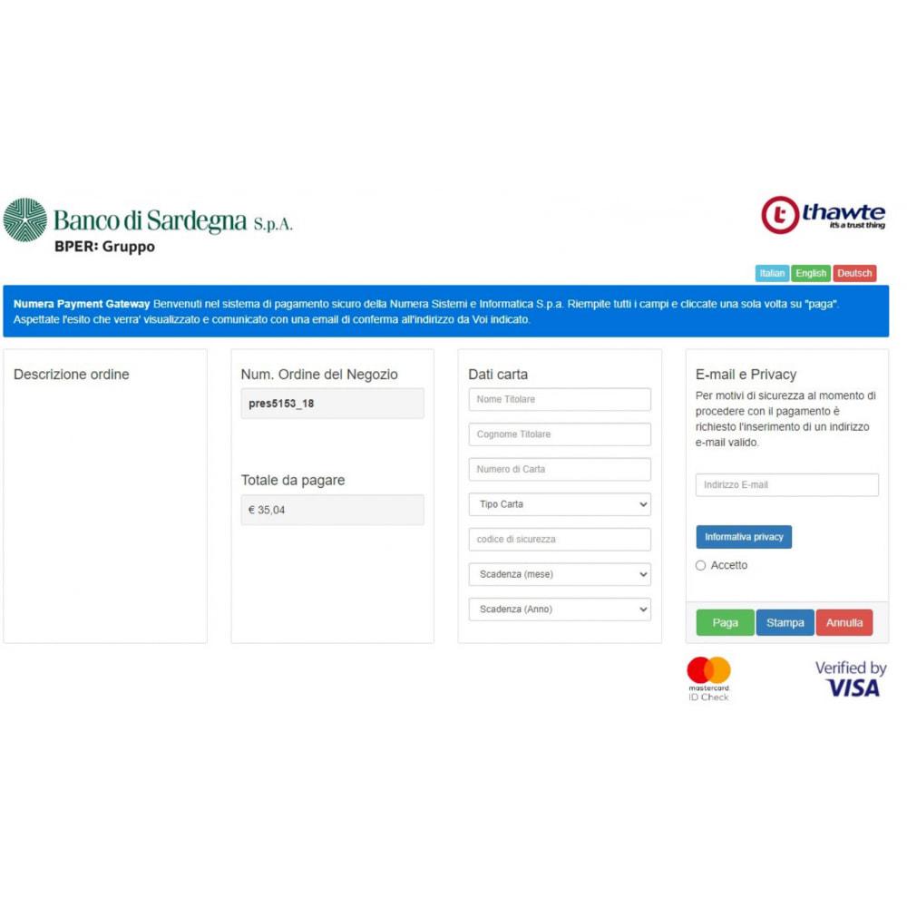 module - Pagamento con Carta di Credito o Wallet - Gateway pagamento Banco di Sardegna gruppo BPER Banca - 3