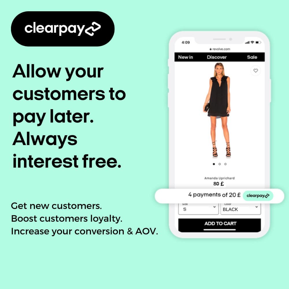 module - Платежи и платежные системы - Clearpay - 1