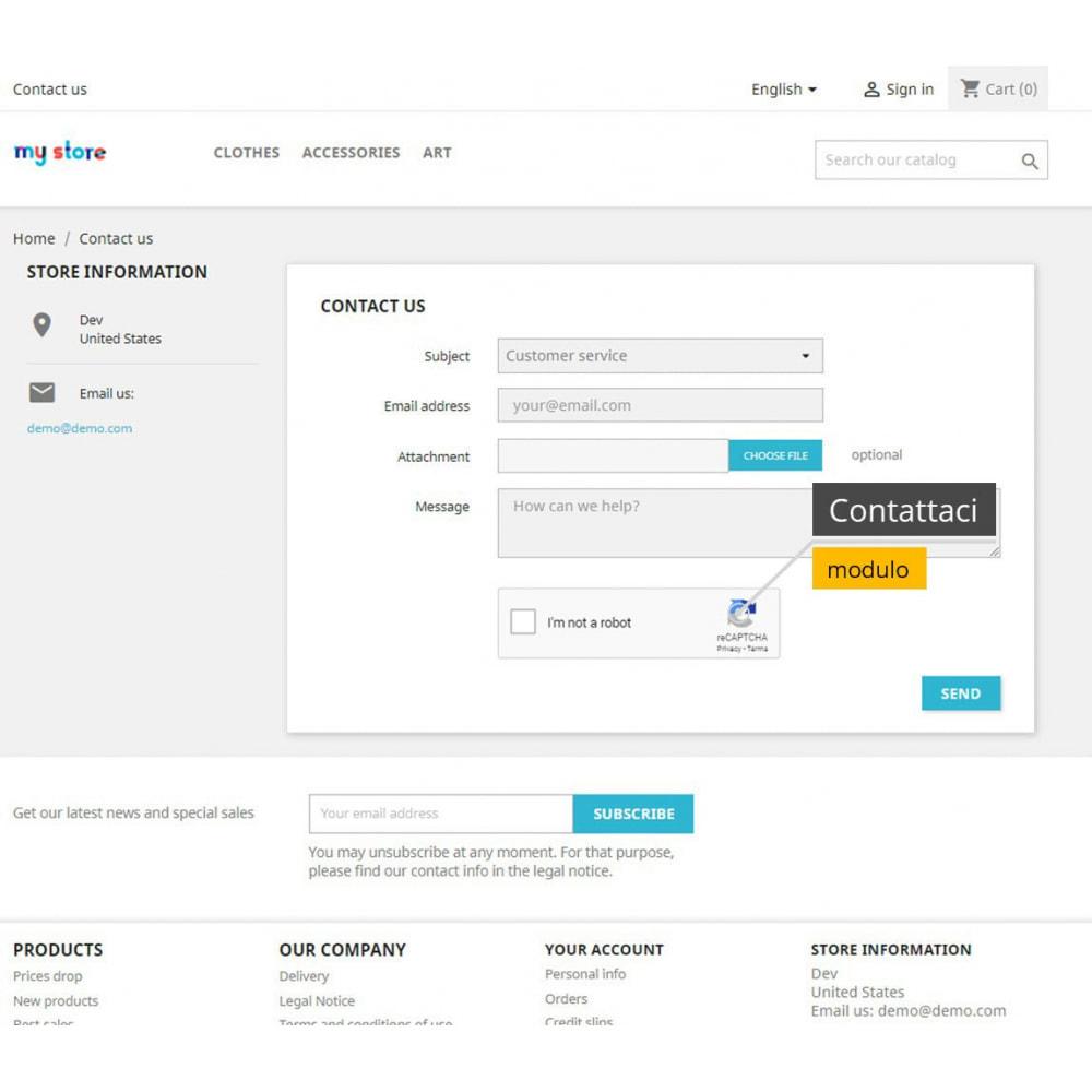 module - Security & Access - re-CAPTCHA + Filtro spam /Strumenti di verifica e-mail - 1