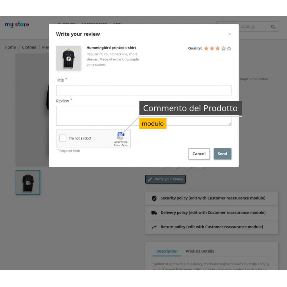 module - Security & Access - re-CAPTCHA + Filtro spam /Strumenti di verifica e-mail - 7