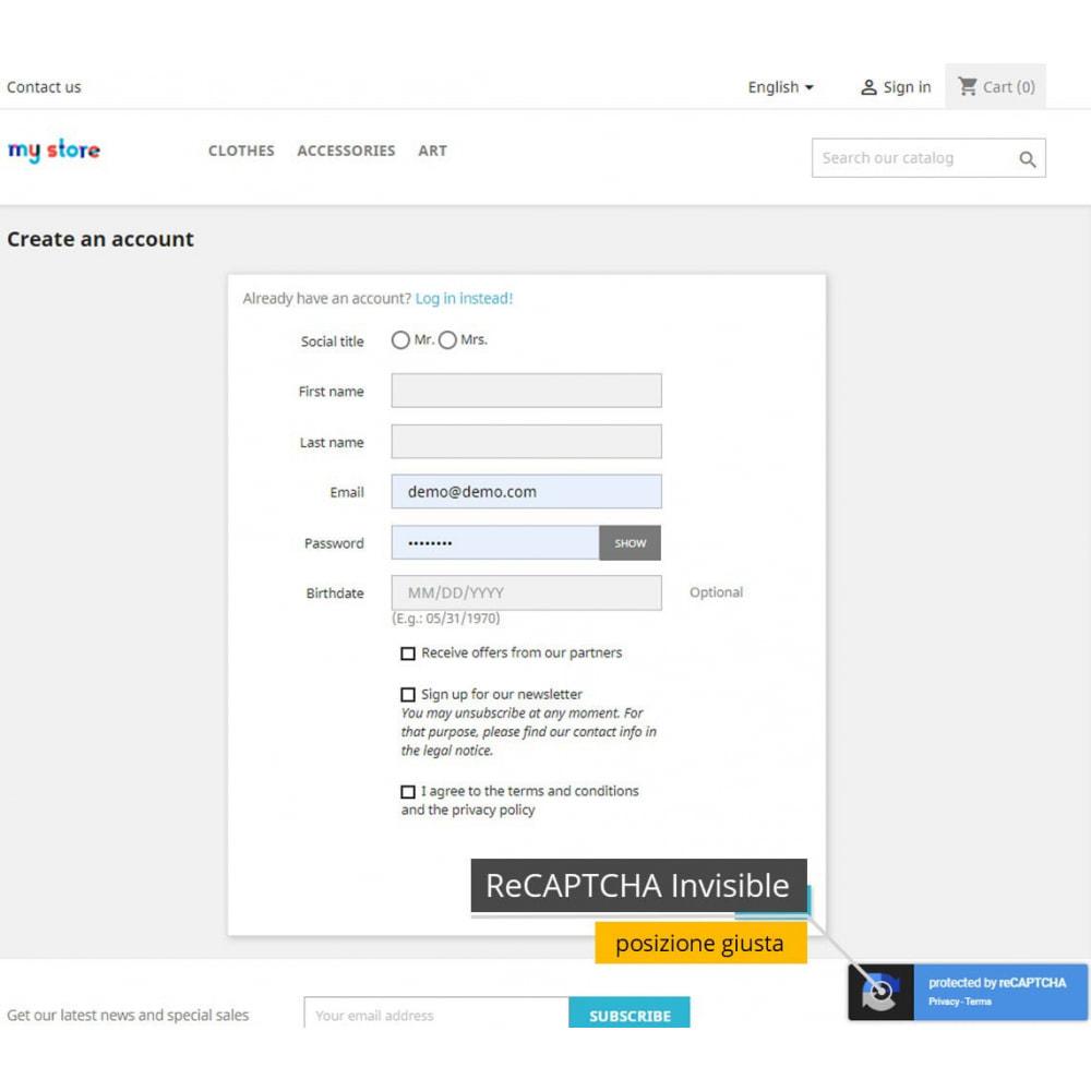 module - Security & Access - re-CAPTCHA + Filtro spam /Strumenti di verifica e-mail - 9
