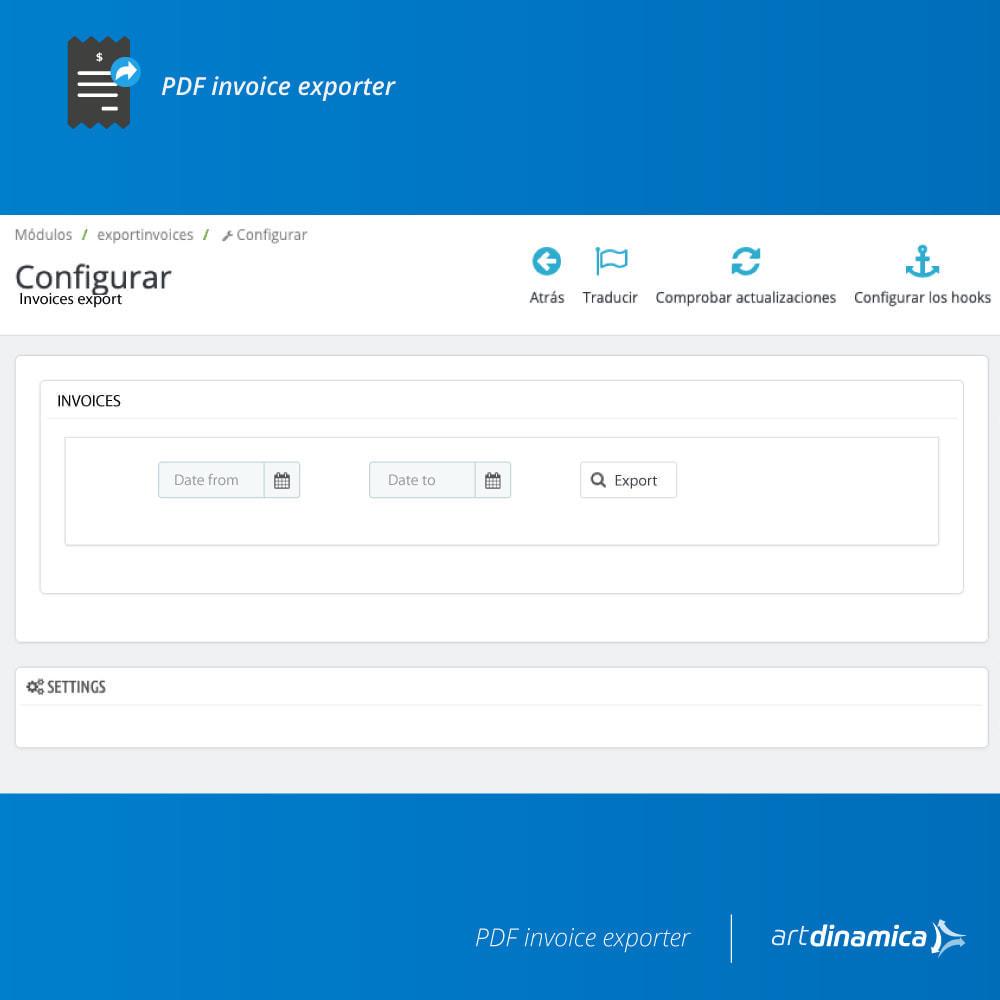 module - Contabilità & Fatturazione - Modulo di esportazione della fattura Excel, CSV - 2