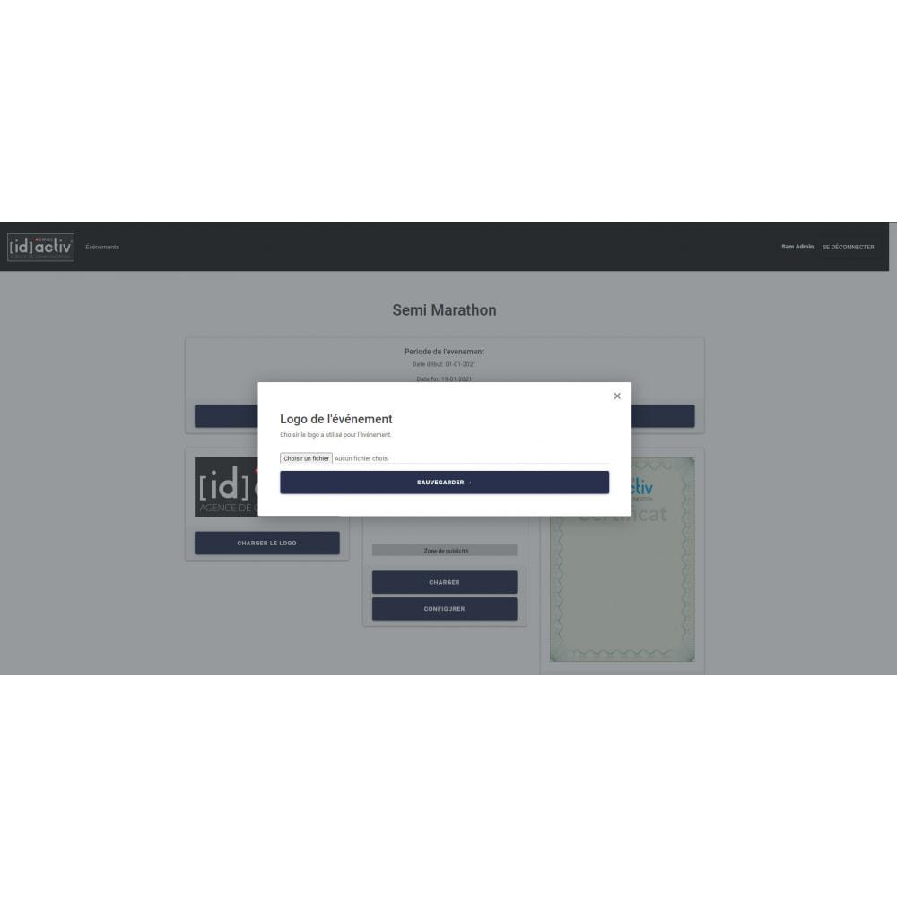 module - Blog, Forum & Actualités - Générateur de dossard et de certificat - 7
