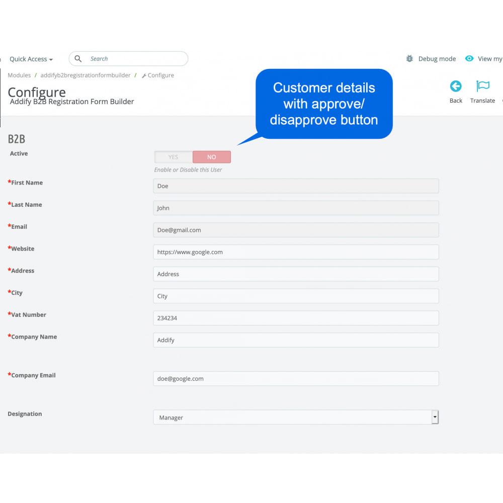 module - Registratie en Proces van bestellingen - B2B Custom Registration Forms Builder - 11