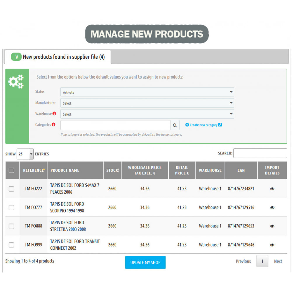 module - Быстрое & массовое редактирование - Wk Stock Manager - 5