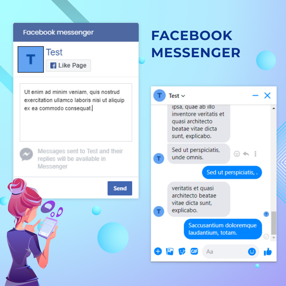 module - Suporte & Chat on-line - Messenger Live Chat With Customers - 1