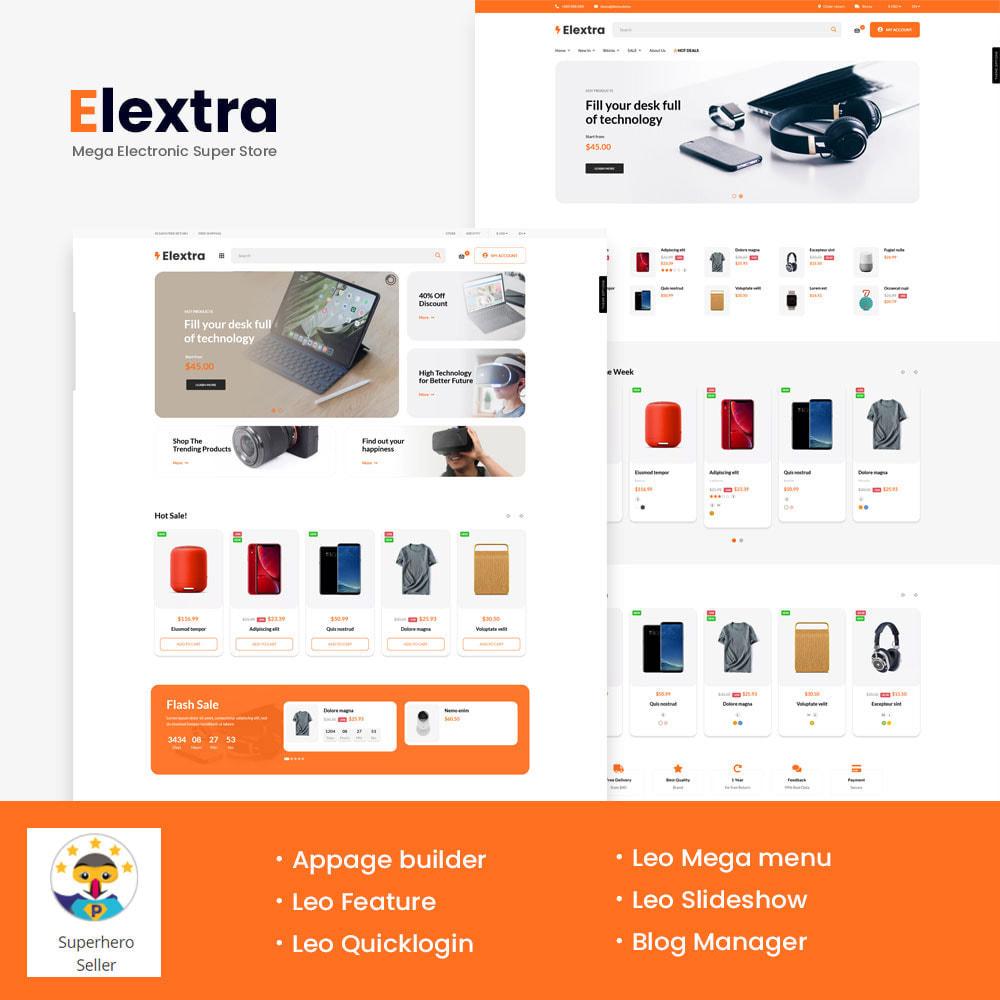 theme - Электроника и компьютеры - Elextra Mega Electronic Super Store - 1