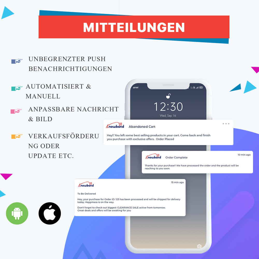 module - Mobile Endgeräte - Knowband - Android und iOS Mobile App Builder - 2