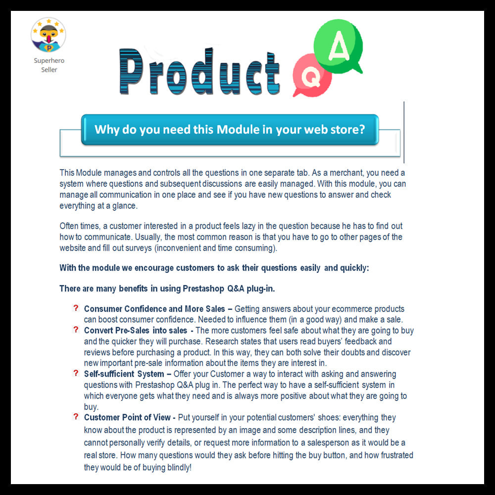 module - FAQ (Frequently Asked Questions) - Product Question and Answer -Ask Question, Get Answers - 2