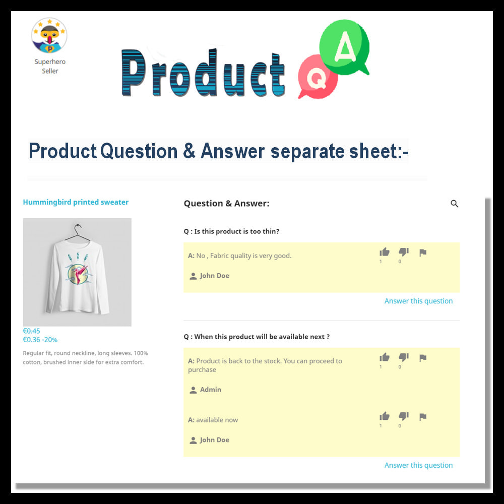 module - FAQ (Frequently Asked Questions) - Product Question and Answer -Ask Question, Get Answers - 8