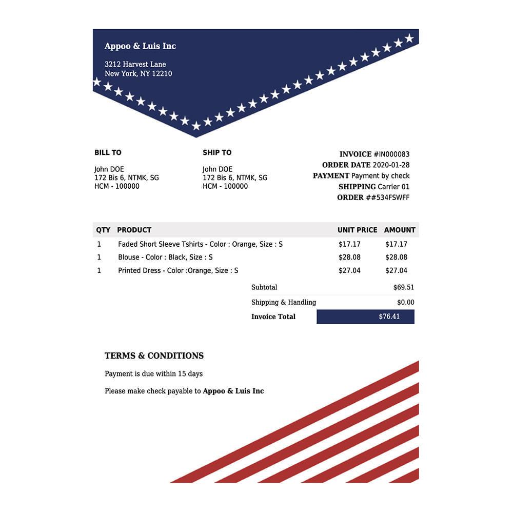 module - Contabilidad y Facturas - DocumenThemix: Plantilla de factura, crédito, entrega - 6