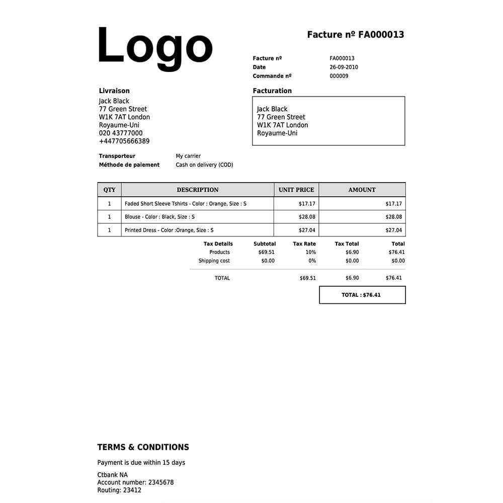 module - Contabilità & Fatturazione - DocumenThemix: modello di fattura, credito, consegna - 9