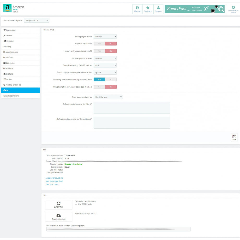 module - Marketplaces - Amazon Sync Marketplace - 11