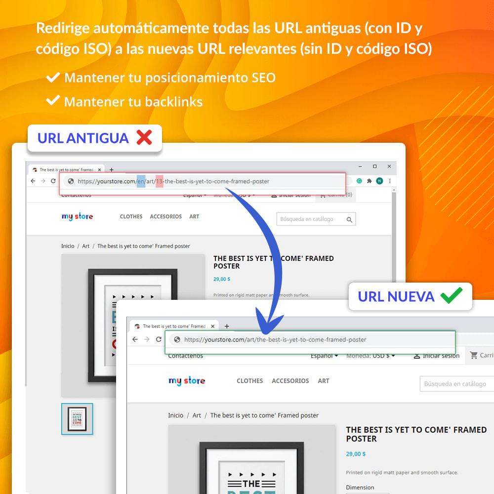 module - URL y Redirecciones - Awesome URL - Elimina ID (números) y código ISO en URL - 4