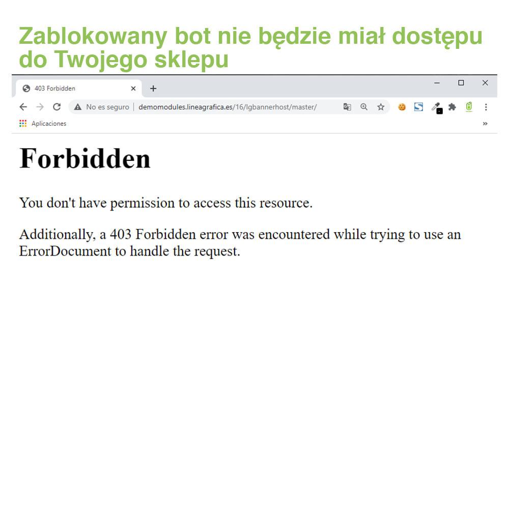 module - Bezpieczeństwa & Dostępu - Block Bots: Blokuj Boty przez IP, Kraj i User-Agent - 5