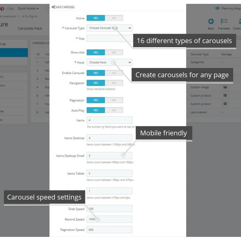 module - Silder & Gallerien - Carousels Pack - Instagram, Products, Brands, Supplier - 8