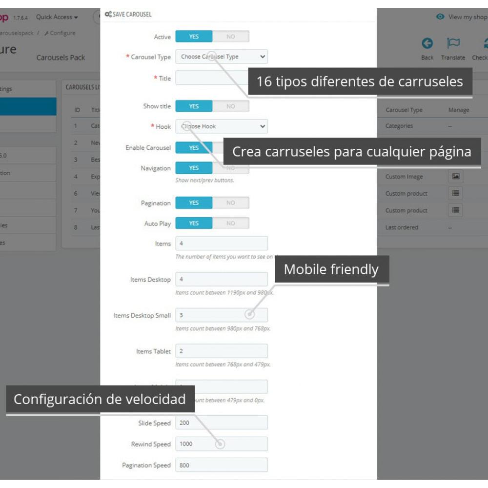module - Sliders y Galerías de imágenes - Carousels Pack - Instagram, Products, Brands, Supplier - 8