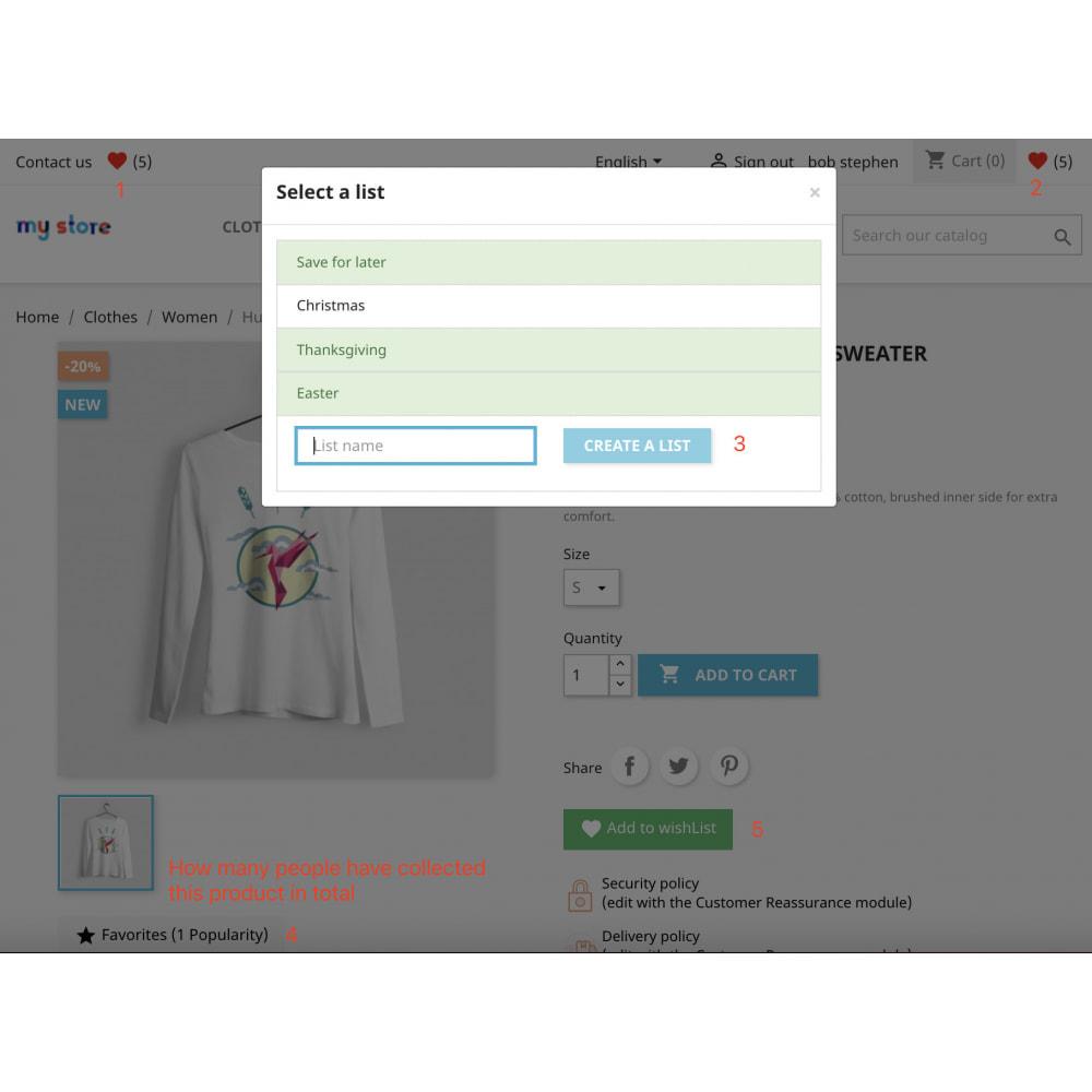 module - Lista de deseos y Tarjeta regalo - Advanced Wishlist|Favorite|Save for later|Buy later Pro - 2