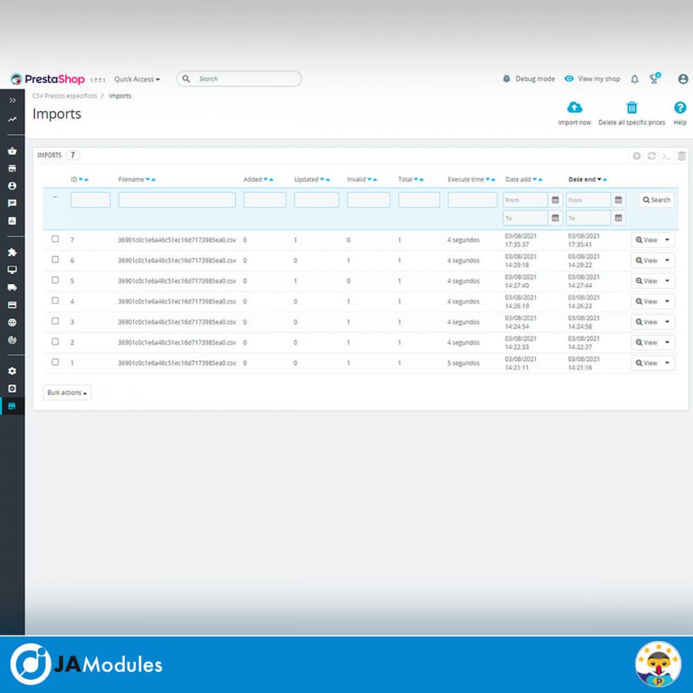 module - Importación y Exportación de datos - CSV Precios específicos - 4