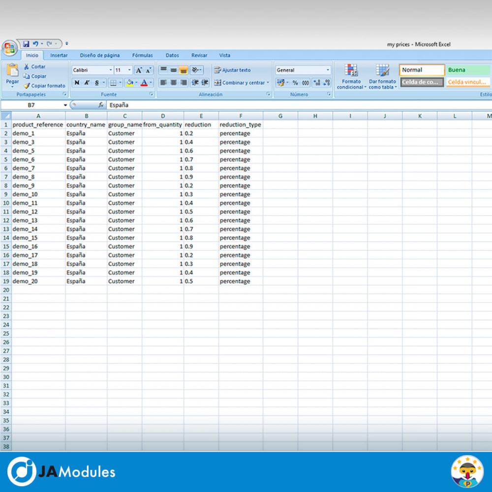 module - Importación y Exportación de datos - CSV Precios específicos - 5