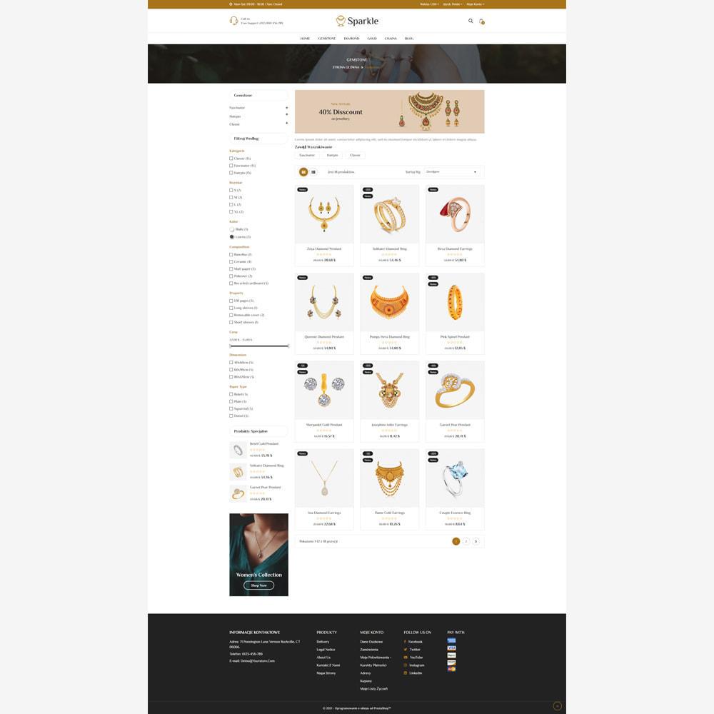 theme - Biżuteria & Akcesoria - Sparkle - sklep z biżuterią responsywny - 3