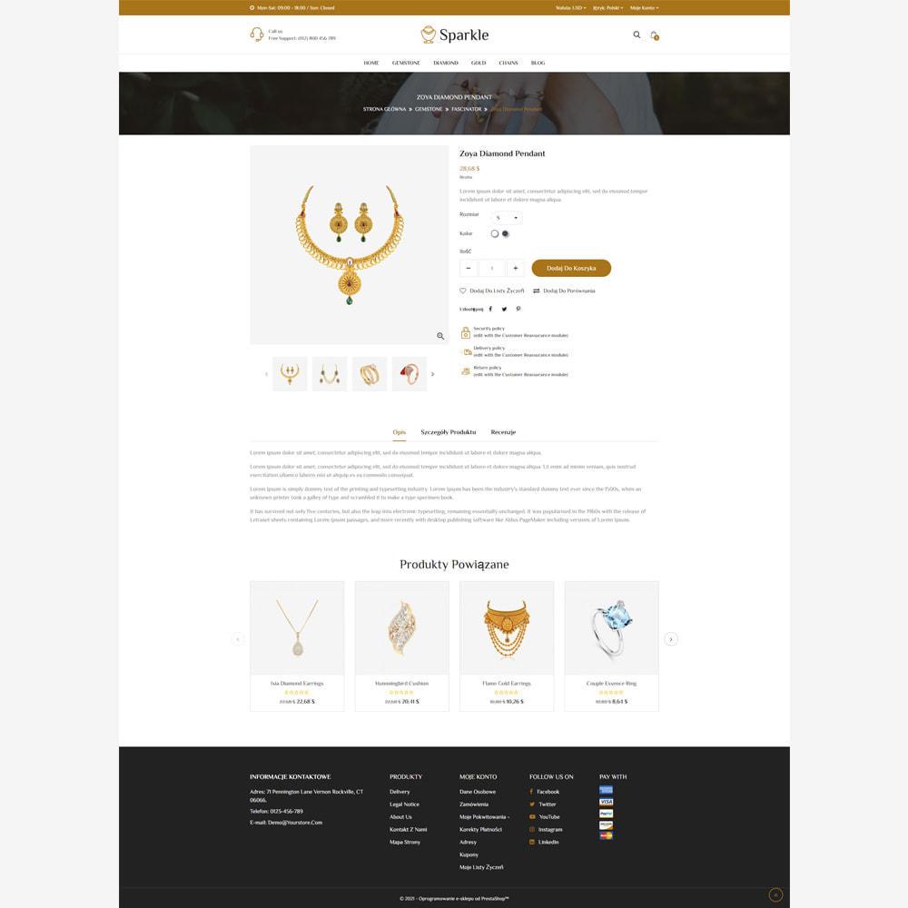 theme - Biżuteria & Akcesoria - Sparkle - sklep z biżuterią responsywny - 4