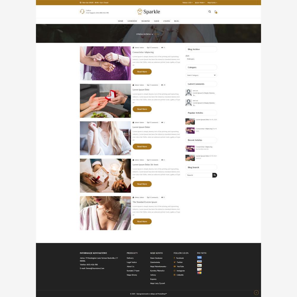 theme - Biżuteria & Akcesoria - Sparkle - sklep z biżuterią responsywny - 5